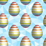 Low Poly Easter Egg Seamless Background Stock Photo