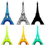 Low poly Eiffel Tower Stock Images
