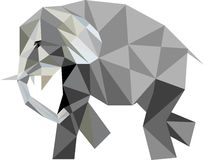 Low poly elephant Royalty Free Stock Photo
