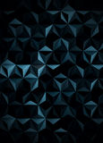 Low Poly Extra Dark Cyanotype Abstract Background Stock Images