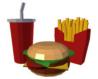 Low Poly Fastfood Royalty Free Stock Image