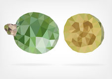 Low Poly Feijoa fruit. Vector illustration of Feijoa fruit in low poly design Stock Images