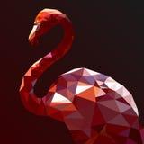 Low Poly Flamingo  art Stock Photos