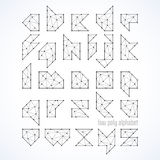 Low poly font, alphabet Stock Photography