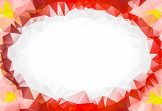 Low Poly frame of flower petals. With space for your text Royalty Free Stock Images