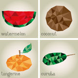 Low Poly Fruits Royalty Free Stock Photos