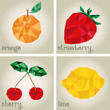 Low Poly Fruits Royalty Free Stock Images