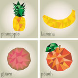 Low Poly Fruits Royalty Free Stock Image