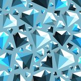 Low poly gem diamond seamless vector pattern royalty free illustration