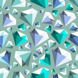 Low poly gem diamond seamless vector pattern vector illustration