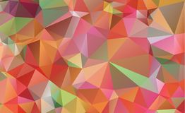 Low poly geometric background consisting of triangle. S of different sizes and colors royalty free illustration