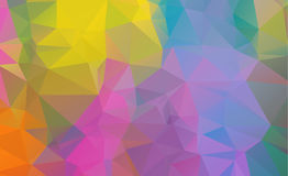 Low poly geometric background consisting of triangles. Of different sizes and colors royalty free illustration