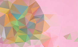 Low poly geometric background consisting of triangles. Of different sizes and colors vector illustration