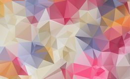 Low poly geometric background consisting of triangles of differe Royalty Free Stock Photography