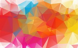 Low poly geometric background consisting of triangles of differe. Nt sizes and colors royalty free illustration