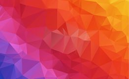 Low poly geometric background consisting of triangles of differe. Nt sizes and colors stock illustration