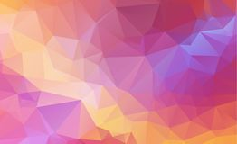 Low poly geometric background consisting of triangles of differe Stock Photos
