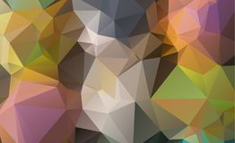 Low poly geometric background consisting of triangles of differe. Nt sizes and colors vector illustration