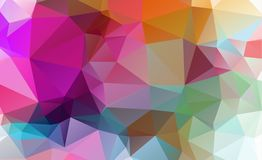Low poly geometric background consisting of triangles. Of different sizes and colors stock illustration