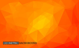 Low poly geometric background. Orange mosaic background Royalty Free Stock Image