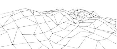 Low-poly geometric 3D mountain landscape. Abstract background. vector illustration