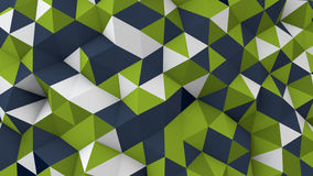 Low poly geometric 3D render surface Royalty Free Stock Photography