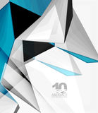 Low poly geometric 3d shape background Stock Images
