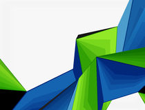 Low poly geometric 3d shape background Royalty Free Stock Photos