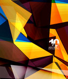 Low poly geometric 3d shape background. Low poly geometric 3d shape futuristic modern background. Vector blank template for your text or design Stock Images