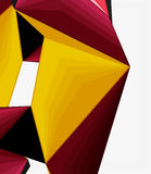 Low poly geometric 3d shape background Royalty Free Stock Photo