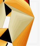 Low poly geometric 3d shape background Royalty Free Stock Image