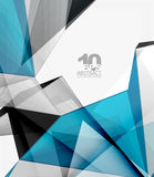 Low poly geometric 3d shape background. Low poly geometric 3d shape futuristic modern background. Vector blank template for your text or design Royalty Free Stock Photography