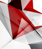 Low poly geometric 3d shape background Stock Image