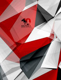 Low poly geometric 3d shape background. Low poly geometric 3d shape futuristic modern background. Vector blank template for your text or design Stock Photography