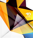 Low poly geometric 3d shape background. Low poly geometric 3d shape futuristic modern background. Vector blank template for your text or design royalty free illustration
