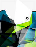 Low poly geometric 3d shape background Stock Photo