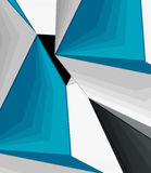 Low poly geometric 3d shape background Stock Photography