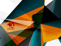 Low poly geometric 3d shape background. Low poly geometric 3d shape futuristic modern background. Vector blank template for your text or design Stock Photo
