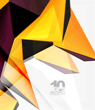 Low poly geometric 3d shape background. Low poly geometric 3d shape futuristic modern background. Vector blank template for your text or design vector illustration