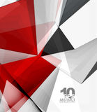 Low poly geometric 3d shape background. Low poly geometric 3d shape futuristic modern background. Vector blank template for your text or design Royalty Free Stock Image