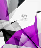 Low poly geometric 3d shape background Stock Photos