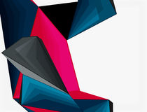 Low poly geometric 3d shape background Royalty Free Stock Images