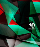Low poly geometric 3d shape background Royalty Free Stock Photography