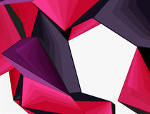 Low poly geometric 3d shape background. Low poly geometric 3d shape futuristic modern background. Vector blank template for your text or design Royalty Free Stock Images