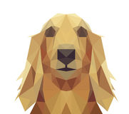 Low Poly Geometric Dog Design Royalty Free Stock Photo