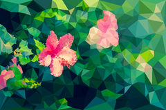 Low poly geometric of hibiscus flower Stock Image