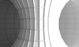 Low poly geometry shape. Polygonal mosaic tube covered by grid. 3d rendering Royalty Free Stock Image