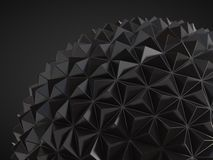 Low poly geosphere Royalty Free Stock Photography