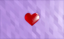 Low poly glass heart Royalty Free Stock Photo