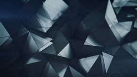Low poly glass surface 3D rendering abstract background. Low poly glass surface. Abstract background. Modern polygonal shape. 3D rendering with DOF Vector Illustration